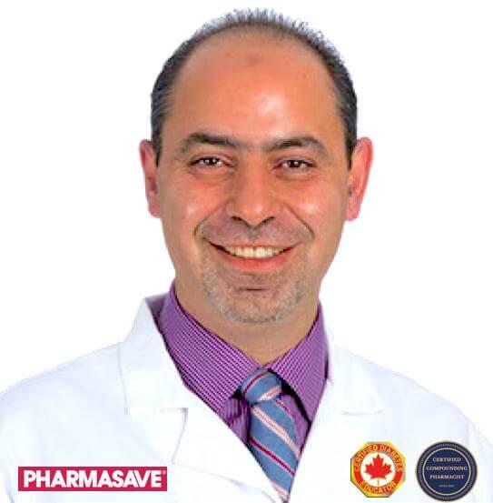 Pharmacist Raed Darras. Ultra Care Commmpounding Phramacy, Pharmasave, in Ottawa,